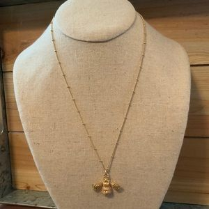 Stella and Dot Gold Fashion Bumblebee Necklace